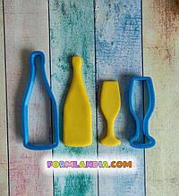 Нвбор формочек для пряников Бутылка и бокал шампанского