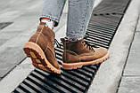 Ботинки зимние мужские South jaston brown, классические кожаные ботинки на меху, фото 6