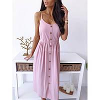 Красивое летнее платье на бретельках и пуговицах  216234-3