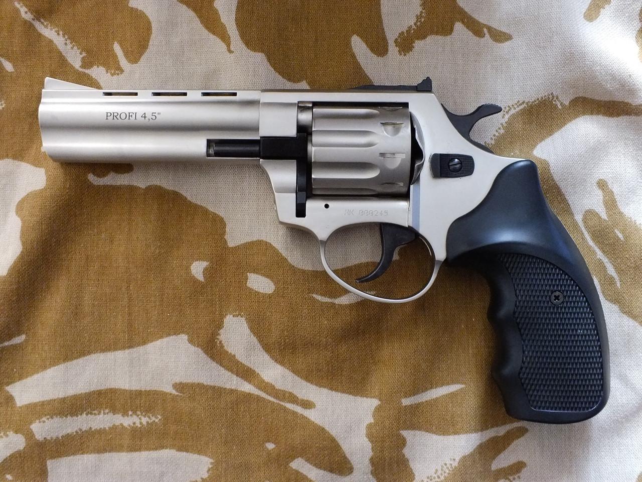 """Револьвер під патрон Флобера Profi 4.5"""" Satin з пластикової держаком"""