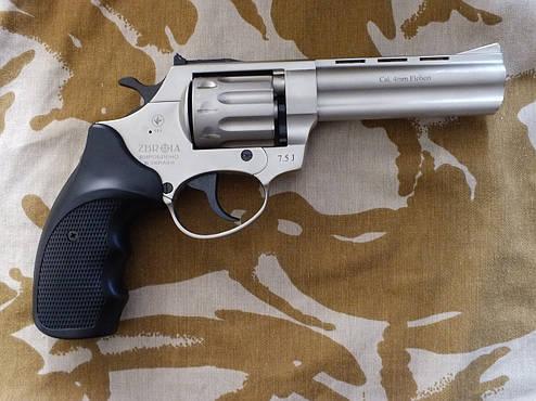 """Револьвер під патрон Флобера Profi 4.5"""" Satin з пластикової держаком, фото 2"""