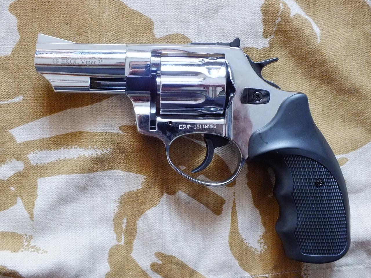 "Револьвер под патрон Флобера Ekol Viper 3"" Chrome"