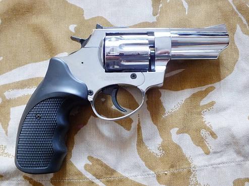 "Револьвер под патрон Флобера Ekol Viper 3"" Chrome, фото 2"