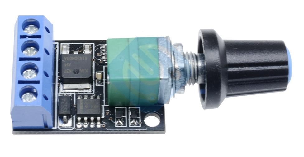 Контролер ШІМ. Управління швидкістю двигуна постійного струму з регулюванням 5-16В 10А