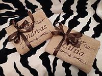 Махровые именные вышитые полотенца пара