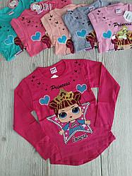 Батник для девочки розовый рост 104-122 (код 82041-00)