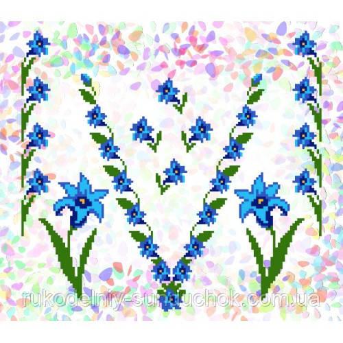 """Водорастворимый флизелин с рисунком """"Confetti"""" (K 227 Колокольчики)"""