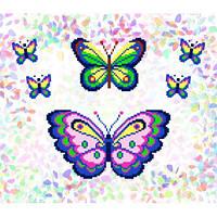 "Водорастворимый флизелин с рисунком ""Confetti"" (K 226 Бабочки)"