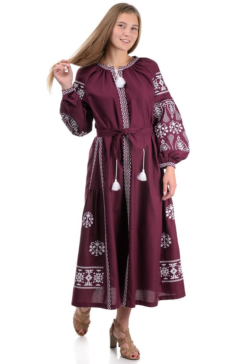 Женское платье с вышивкой, размеры S - XL