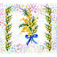"""Водорастворимый флизелин с рисунком """"Confetti"""" (K 224 Мимоза)"""