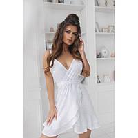 Женское летнее платье белое батистовое 1118-1