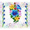 """Водорастворимый флизелин с рисунком """"Confetti"""" (K 223 Букет полевых цветов)"""