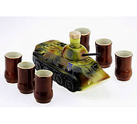 Подарочный набор БТР (танк) с рюмками, фото 1