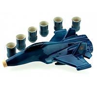 Штоф, подарочный набор Самолет для спиртного 8 предметов