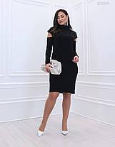Элегантное женское платье из вязанного трикотаж батал 48-58 размер, фото 3