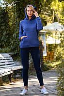 """Красивый  уютный женский джемпер с капюшоном """"УШКИ"""" и с карманами """"кенгуру""""."""