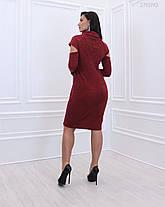Тёплое  женское платье из качественного  вязанного трикотаж батал 48-58 размер, фото 3