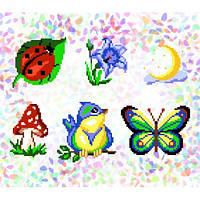 "Водорастворимый флизелин с рисунком ""Confetti"" (K 222 Летний лес)"