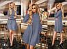 Модное ангоровое женское платье трапеция Natella - Фото