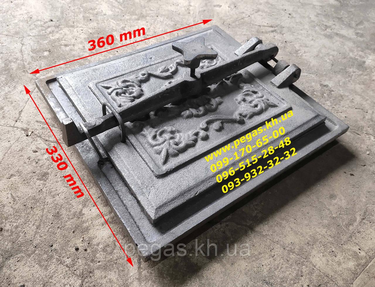 Дверка + отражатель чугунное литье (330х360 мм) грубу, барбекю, печи, мангал