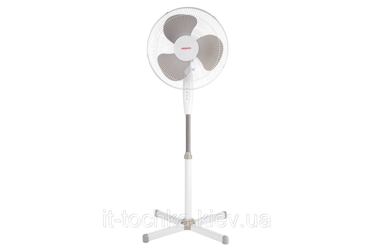 Напольный вентилятор ardesto fn-1608cw white на 45 Вт