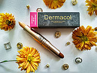 Консиллер-стик 2 в 1 Dermacol Highlight and Contour Waterproof SPF 30. Тон 04