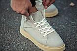 Ботинки зимние мужские South navy ivory, классические зимние ботинки на зиму, фото 5