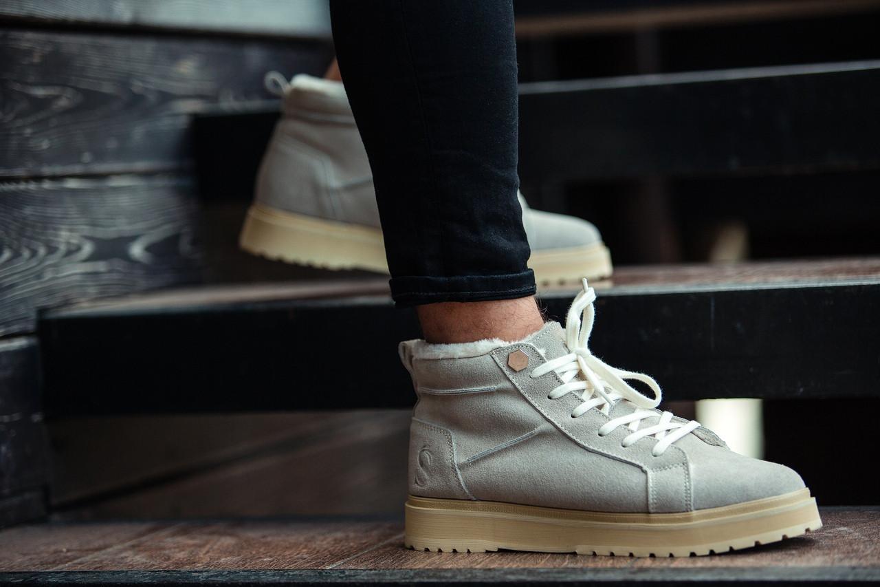 Ботинки зимние мужские South navy ivory, классические зимние ботинки на зиму