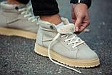 Ботинки зимние мужские South navy ivory, классические зимние ботинки на зиму, фото 7