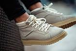 Ботинки зимние мужские South navy ivory, классические зимние ботинки на зиму, фото 8