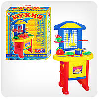 Детская игрушечная мебель Кухня арт.2124 (сине-желтая)
