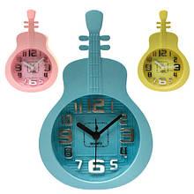 Яркие часы с будильником Гитара