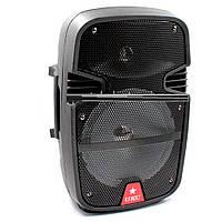 Портативная Bluetooth колонка UKC 8 / RE 258 + проводной микрофон (S07915)