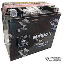 Мото аккумулятор Maxion YTX14-BS 12 Аh, 200 А, (+/-), 150х87х145 мм, фото 1