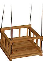 Детская деревянная качеля - Качель подвесная размером 35 х 35 х 20 см 11980