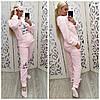 Теплая женская махровая пижама Турция 6933