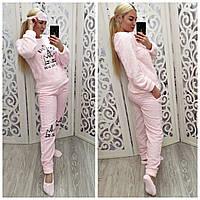 Теплая женская махровая пижама Турция 6933, фото 1