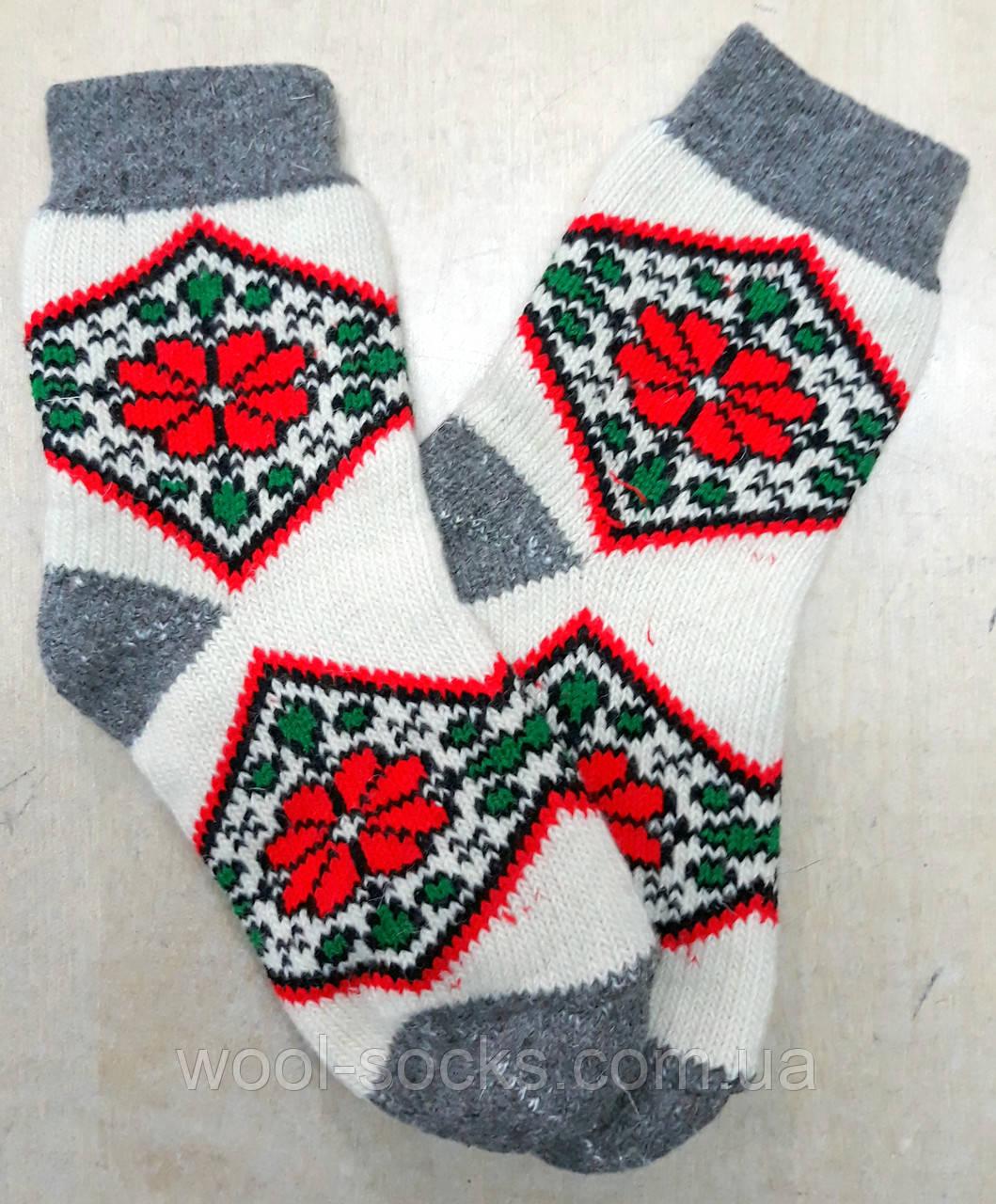 Носки из натуральной шерстяной пряжи