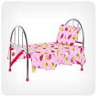 Кроватка для кукол металлическая