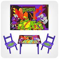 Детский столик с 2-мя стульчиками «Черепашки-ниндзя»