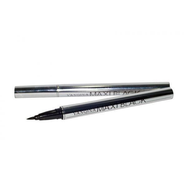 Подводка для глаз с гибкой кисточкой MAXI BLACK Eyeliner