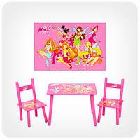 Детский столик с 2-мя стульчиками «Чародейки / Winx»