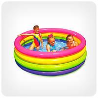 Детский бассейн для улицы и пляжа (круглый, 4 кольца)