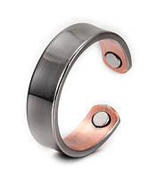Медное кольцо с магнитами Black cooper женское.