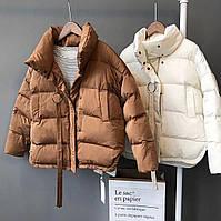 Молодежная куртка стильная женская дутая