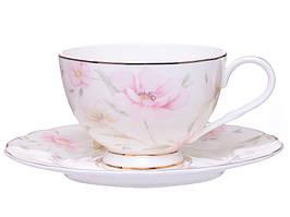 Чашка с блюдцем фарфоровая Лаура 264-653
