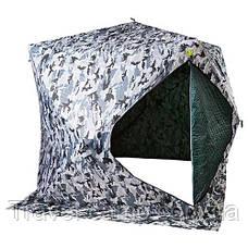 "Палатка зимняя ""куб"", утепленная, 200х200х205см, для рыбалки., фото 2"
