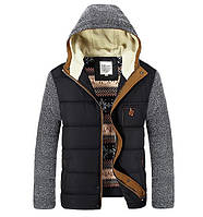 Мужская демисезонная куртка. Мужской осенний пуховик. Мужская ветровка с капюшоном. Модель - М15