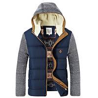 Чоловіча демісезонна куртка. Чоловічий осінній пуховик. Чоловіча вітровка з капюшоном. Модель - М15, фото 3