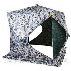 "Палатка зимняя ""куб"", утепленная, 200х200х205см, для рыбалки., фото 3"